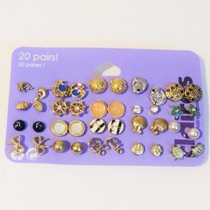 Claire's Set of 20 Earrings. NEW J31